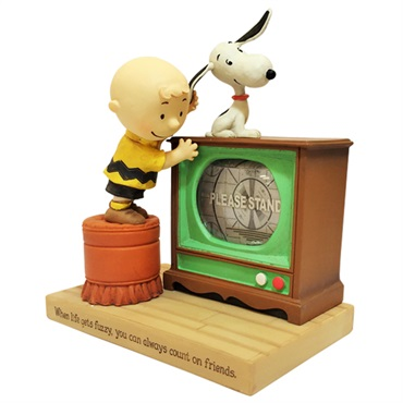 Snoopy TV Water Globe