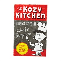 Snoopy Lucy Kozy Kitchen Metal Sign