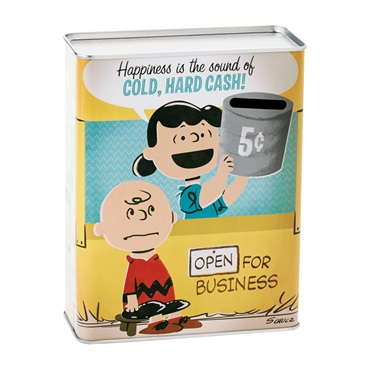 Snoopy Happiness Is Tin Bank