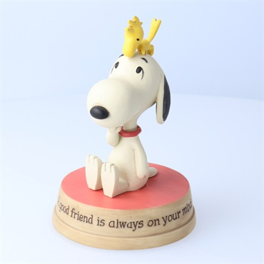 Snoopy Figurine Woodstock Sitting on
