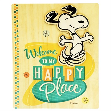 Snoopy Wood wall deco happy dance