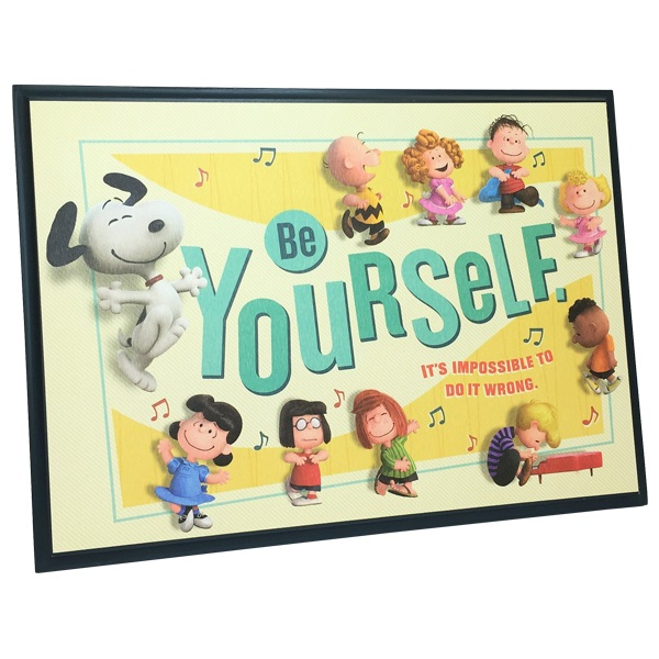 Snoopy Be Yourself Wood Plaque