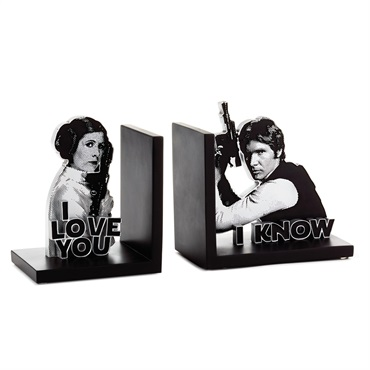 Star Wars  Han Solo  and Princess Leia  Bookends, Set of 2