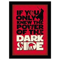 Star Wars  Dark Side Framed Print