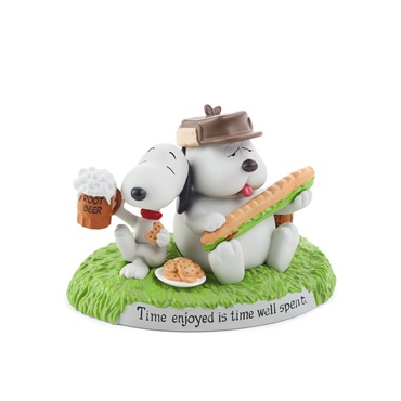 Snoopy and Brother, Olaf, Figurine