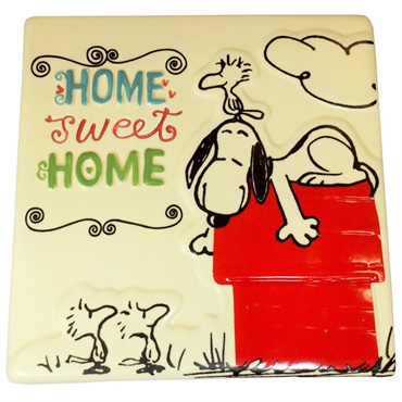 Snoopy Home Sweet Home Ceramic Tile