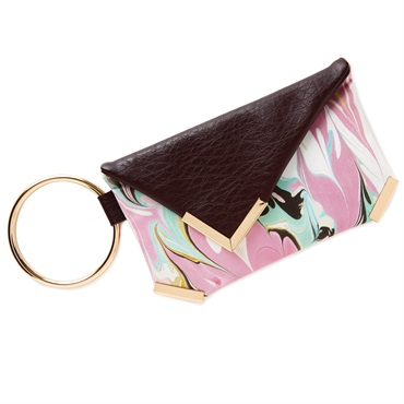 Marbled Wristlet Purse