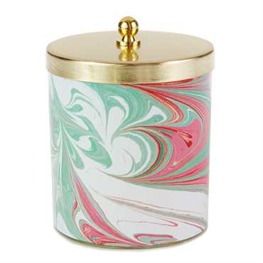 Marbled Votive Candle With Lid, 8.1 oz.