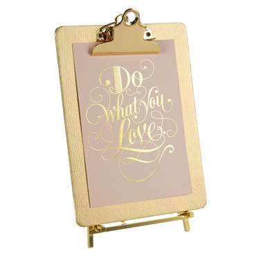 Gold Clipboard Picture Frame With Easel