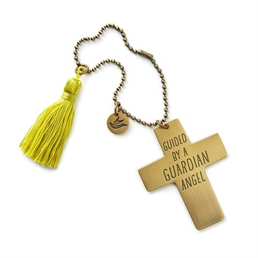 Guardian Angel Cross Car Mirror Charm