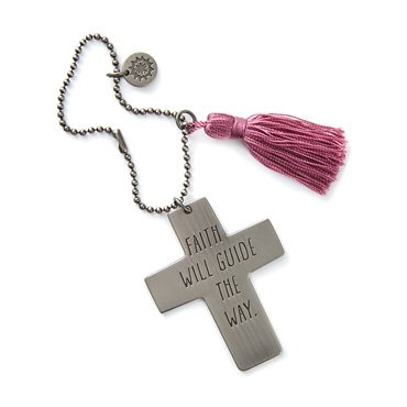 Faith Will Guide the Way Cross Car Mirror Charm