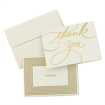 Gold Borders Thank You Notes【ありがとう】