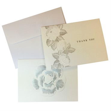 Embossed Floral Thank You & Blank【ありがとう&多目的】