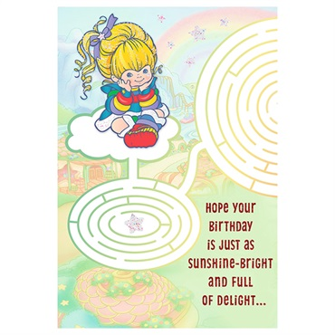 Rainbow Brite Maze Birthday Card【誕生お祝い】