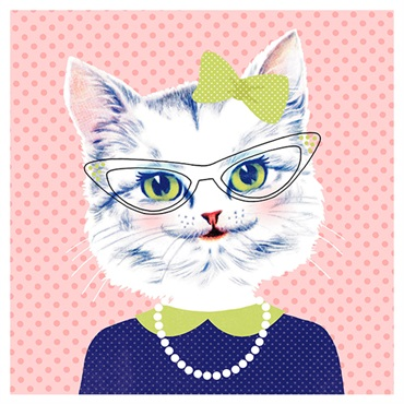Retro Style Cat Birthday Card【誕生お祝い/Studio Ink】