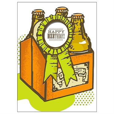 Bottles of Beer Birthday Card【誕生お祝い/Studio Ink】