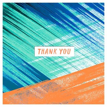 Colorful Brush Strokes Thank You Card【ありがとう/Studio Ink】