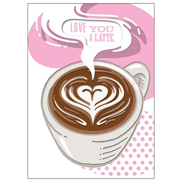 Love You a Latte Love Card【多目的/Studio Ink】