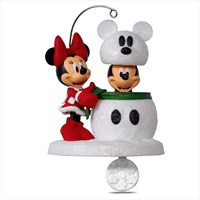 Disney Mickey and Minnie Snowmouse Surprise Ornament