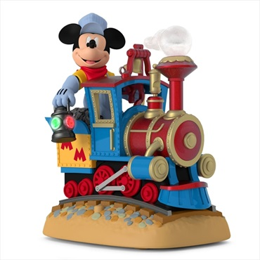 Disney Mickey's Magical Railroad Sound Ornament With Light and Motion