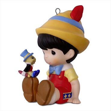 Disney Pinocchio and Jiminy Cricket Precious Moments(R) Porcelain Ornament