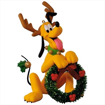 Pluto Santa's Little Helper Ornament