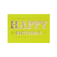 Gold and Stripes Birthday Card【誕生お祝い/Signature】