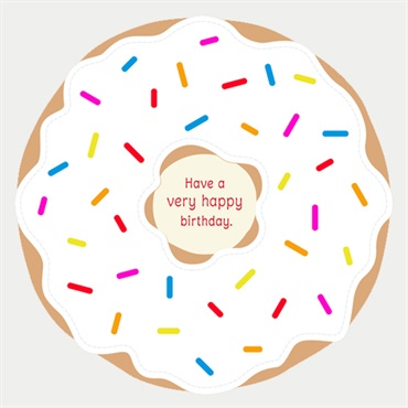 Sugar Raised Donut Birthday Card【誕生お祝い/Signature】