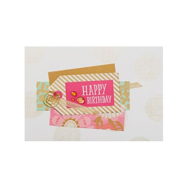 Amazing Girl Gift Tag Birthday Card【誕生お祝い/Signature】