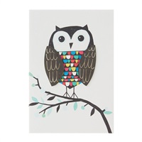 Wise Wonderful You Owl Birthday Card【誕生お祝い/Signature】