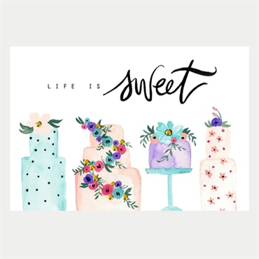 Life is Sweet Birthday Card【誕生お祝い/Signature】