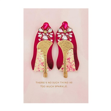 Fabulous Shoes Birthday Card【誕生お祝い/Signature】
