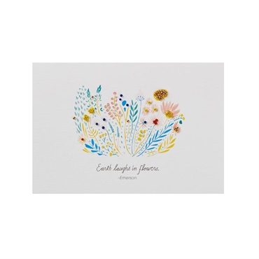 Earth Laughs In Flowers Blank Card【多目的/Signature】