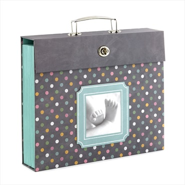 Polka Dot Baby Accordion File Folder Organizer