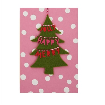 Christmas Tree Banner Ornament and Christmas Card【クリスマスカード/Signature】