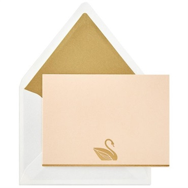 Swan In Style Blank Note Cards【多目的/Signature】