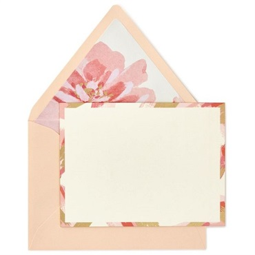 Brush Strokes and Flowers Blank Note Cards【多目的/Signature】