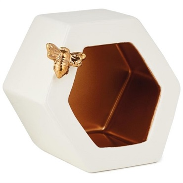 Classic Rose Hexagonal Container With Bee Attachment
