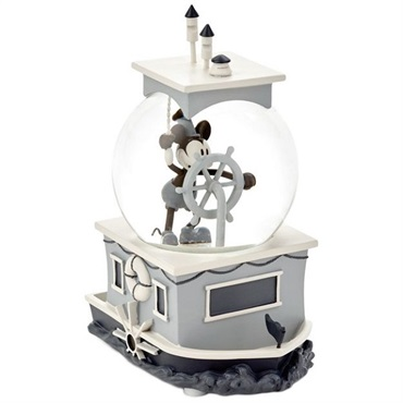 Mickey Mouse Steamboat Willie Special-Edition Musical Water Globe