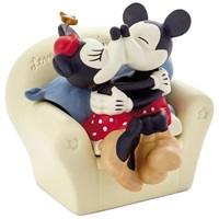 Mickey and Minnie on Couch Porcelain Trinket Box