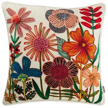 Geninne Zlatkis Flowers Pillow