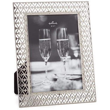 Silver Filigree Wedding Picture Frame