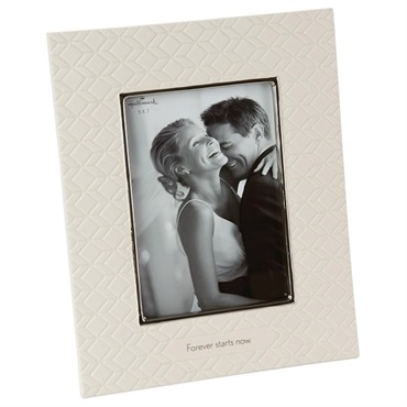 Forever Starts Now Wedding Picture Frame