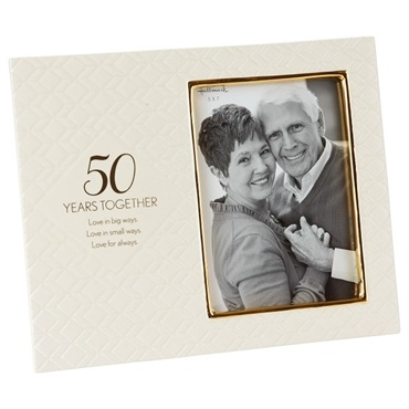 Love for Always 50th Anniversary Picture Frame