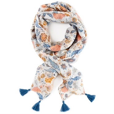 Mark & Hall Blue Floral Scarf