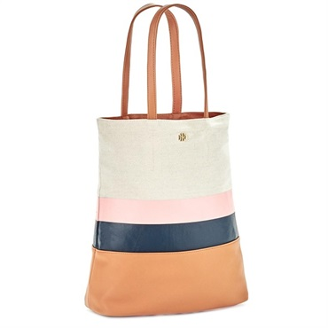 Mark & Hall Camel Colorblock Tote Bag