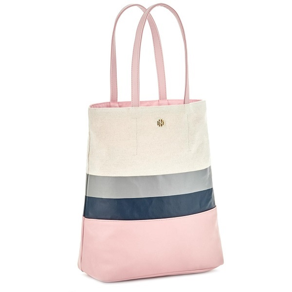 Mark & Hall Pink Colorblock Tote Bag