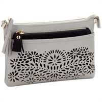 Mark & Hall Gray Diecut Crossbody Bag