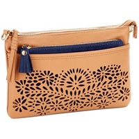 Mark & Hall Camel Diecut Crossbody Bag
