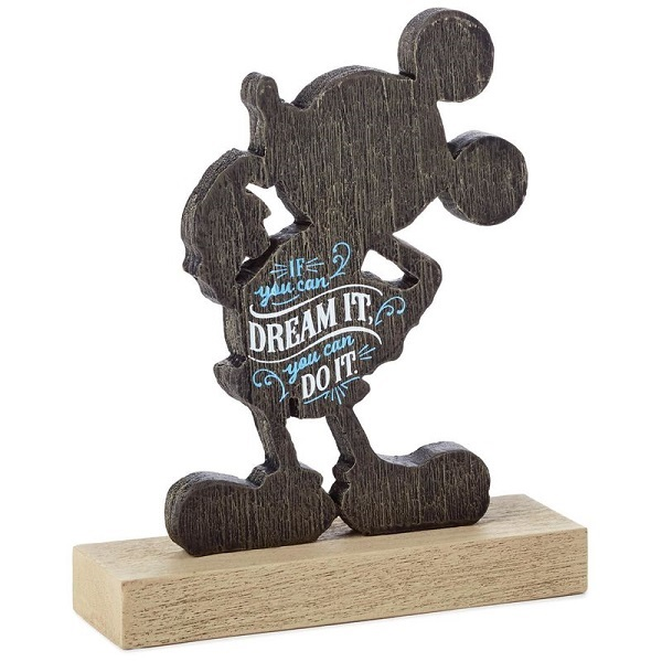 Mickey Mouse Dream It Quote Figurine